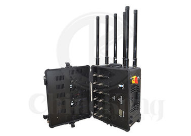 Portable Military Convoy Bomb Jammer Output Power 300W 4GLTE Cell Phone Signal Interrupter